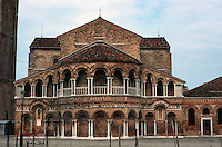 Venice:  Santi Maria e Donato, Murano. Veneto-Byzantine style, late 11th century.  Apse and galleries.  Photo '83.