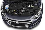Car Stock 2015 Hyundai I30 Go 5 Door Wagon Engine  high angle detail view
