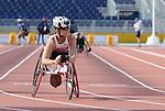 Michelle Stilwell, Toronto 2015 - Para Athletics // Para-athlétisme.<br /> Michelle Stilwell competes in the Women's 100m T52 Final // Michelle Stilwell participe à la finale du 100 m T52 féminin. 11/08/2015.