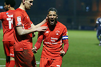 dO's Jobi McAnuff scores and celebres during Leyton Orient vs Southend United, Sky Bet EFL League 2 Football at The Breyer Group Stadium on 29th December 2020
