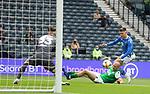 22.05.2021 Scottish Cup Final, St Johnstone v Hibs: Alex Gogic tackles Glenn Middleton