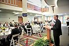June 7, 2011; Rev. John I. Jenkins, C.S.C., president of the University of Notre Dame speaks at the annual Community Leaders Breakfast at the DeBartolo Performing Arts Center...Photo by Matt Cashore/University of Notre Dame