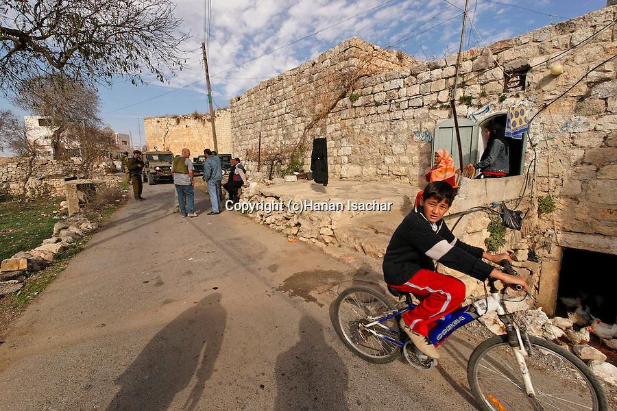 Palestinian village Yabrud in Beth El Mountains