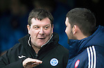 St Johnstone v Hamilton Accies…28.01.17     SPFL    McDiarmid Park<br />Tommy Wright talks with accies boss Martin Canning<br />Picture by Graeme Hart.<br />Copyright Perthshire Picture Agency<br />Tel: 01738 623350  Mobile: 07990 594431