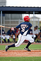 8-29-09: Adrian Sanchez of the Gulf Coast League Nationals during the game in Viera, Florida. The GCL Nationals are the Rookie League affiliate of the Washington Nationals. Photo By Scott Jontes/Four Seam Images