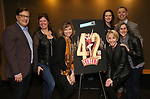 "Todd Ellison, Amy Dolan Fletcher, Sara Brians, Alison Levenberg, Kelly Sheehan, Andrew Black and Patty Lyons attends the BroadwayHD's ""42nd Street"" Screening at the AMC Empire 25 Theatres on April 16, 2019 in New York City."