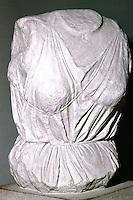 Greek Art:  Torso of Selene.  Acropolis Museum.
