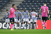 3rd January 2021; Dragao Stadium, Porto, Portugal; Portuguese Championship 2020/2021, FC Porto versus Moreirense; Players of FC Porto celebrate the penalty kick goal scored  by Sérgio Oliveira in the 22th minute 1-0