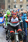 Gregory Rast (SUI) Radioshack Leopard at the sign on before the start of the 104th edition of the Milan-San Remo cycle race at Castello Sforzesco in Milan, 17th March 2013 (Photo by Eoin Clarke 2013)