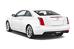 Car pictures of rear three quarter view of a 2019 Cadillac ATS Coupe Premium Performance 2 Door Coupe angular rear