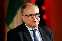 The Italian Minister of Economy Roberto Gualtieri participates at the second edition of the Festival of the Cities.<br /> Rome (Italy), October 1st 2020<br /> Photo Samantha Zucchi Insidefoto