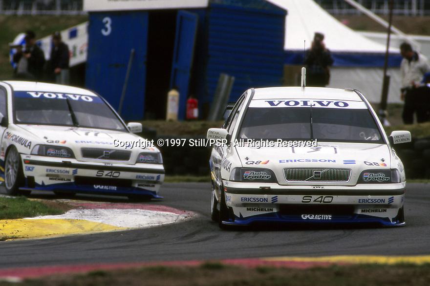 1997 British Touring Car Championship. #3 Rickard Rydell (S). Volvo S40 Racing. Volvo S40.
