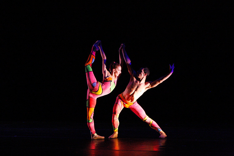 Mary LaCroix and Jeremy Bannon-Neches perform James Canfield's 'Jungle' as part of Nevada Ballet Theatre's 'Timeless Innovation' on the campus of UNLV.
