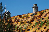 hospices de beaune, hotel dieu roof beaune cote de beaune burgundy france