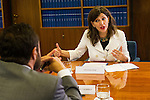 Yolanda Diaz of Unidos Podemos during the debate on agreements with representatives of the four major political forces at the headquarters of the newspaper La Razon . 19,06,2016. (ALTERPHOTOS/Rodrigo Jimenez)