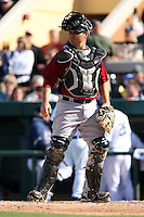 March 5, 2010:  Catcher Kevin Cash of the Houston Astros during a Spring Training game at Joker Marchant Stadium in Lakeland, FL.  Photo By Mike Janes/Four Seam Images