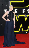 British actress Gwendoline Christie attends the STAR WARS: 'The Force Awakens' EUROPEAN PREMIERE at Odeon, Empire & Vue Cinemas, Leicester Square, England on 16 December 2015. Photo by David Horn / PRiME Media Images