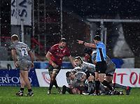 2nd January 2021; Kingsholm Stadium, Gloucester, Gloucestershire, England; English Premiership Rugby, Gloucester versus Sale Sharks; Faf de Klerk of Sale Sharks passes from a ruck