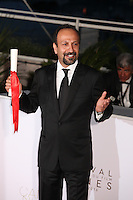 ASHGAR FARHADI, WINNER OF THE BEST SCREENPLAY AWARD FOR THE FILM 'THE SALESMAN' - PHOTOCALL OF THE WINNERS AT THE 69TH FESTIVAL OF CANNES 2016