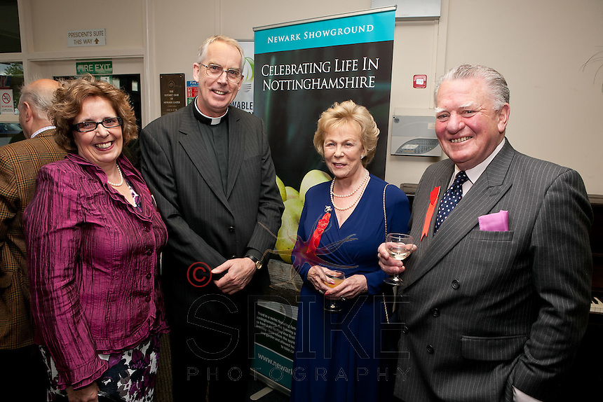 Pictured from left Vanessa De Pemberton-Lawrence, The Very Rev John Guille, Jill Ford and Charles Lawrence