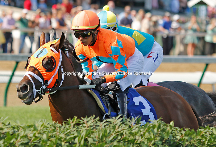 June 26,, 2021: #3 Somelikeithotbrown in the Wise Dan Stakes (Grade 2) on the turf at Churchill Downs.  Louisville, KY on June 26, 2021.  Candice Chavez/ESW/CSM