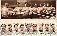 BNPS.co.uk (01202) 558833. <br /> Pic: Pen&Sword/BNPS<br /> <br /> Pictured: 1936 Olympic rower Desmond Kingsford, circled, went on to win the Military Cross but was killed when a shell landed on his tent when he was sleeping in 1944. <br /> <br /> The tragic stories of almost 500 Olympians who were killed during World War Two have been revealed in a new book.<br /> <br /> While this year's Tokyo Olympics competitors are producing extraordinary feats in the sporting arena, these fallen Olympians displayed heroism of a different kind.<br /> <br /> Dozens died carrying out acts of gallantry in major battles including D-Day, while almost 60 Jewish participants perished in concentration camps during the Holocaust.