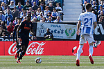 CD Leganes's Ruben Perez and Valencia CF' Geoffrey Kondogbia during La Liga match, Round 25 between CD Leganes and Valencia CF at Butarque Stadium in Leganes, Spain. February 24, 2019. (ALTERPHOTOS/A. Perez Meca)