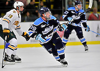 2 December 2011: University of Maine Black Bear forward Joey Diamond, a Junior from Long Beach, NY, in action against the University of Vermont Catamounts at Gutterson Fieldhouse in Burlington, Vermont. The Catamounts fell to the Black Bears 6-4 in the first game of their 2-game Hockey East weekend series. Mandatory Credit: Ed Wolfstein Photo