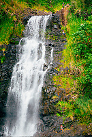 Rappelling adventure at Kulaniapia Falls, Big Island of Hawai'i.