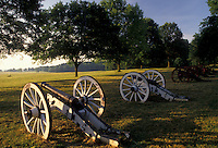 AJ2750, Valley Forge Park, cannons, Valley Forge, battery, Pennsylvania, Cannons at Artillery Park in Valley Forge National Historical Park in Valley Forge in the state of Pennsylvania.