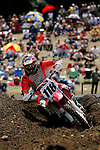 David Millsaps (118) competes on the course at the Unadilla Valley Sports Center in New Berlin, New York on July 16, 2006, during the AMA Toyota Motocross Championship.