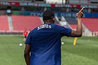 SANDY, UT - JUNE 8: Jordan Siebatcheu of the United States during a training session at Rio Tinto Stadium on June 8, 2021 in Sandy, Utah.