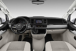 Stock photo of straight dashboard view of a 2018 Volkswagen California Ocean 4 Door Passenger Van