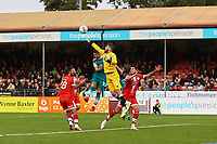 Glenn Morris of Crawley Town punches the ball clear during Crawley Town vs Sutton United, Sky Bet EFL League 2 Football at The People's Pension Stadium on 16th October 2021