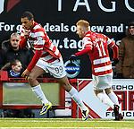 Mikael Antoine Curier celebrates his goal for Hamilton
