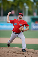 Boston Red Sox pitcher Zach Schellenger (58) delivers a pitch during a Florida Instructional League game against the Baltimore Orioles on September 21, 2018 at JetBlue Park in Fort Myers, Florida.  (Mike Janes/Four Seam Images)