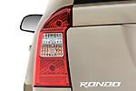 Tail light close up detail view of a 2008 Kia Rondo EX V6