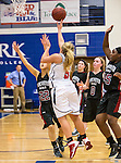 2014 NCCAA Basketball - Lancaster and Arlington Baptist Women in action during the game between the two teams at the Ozark Christian College event center.