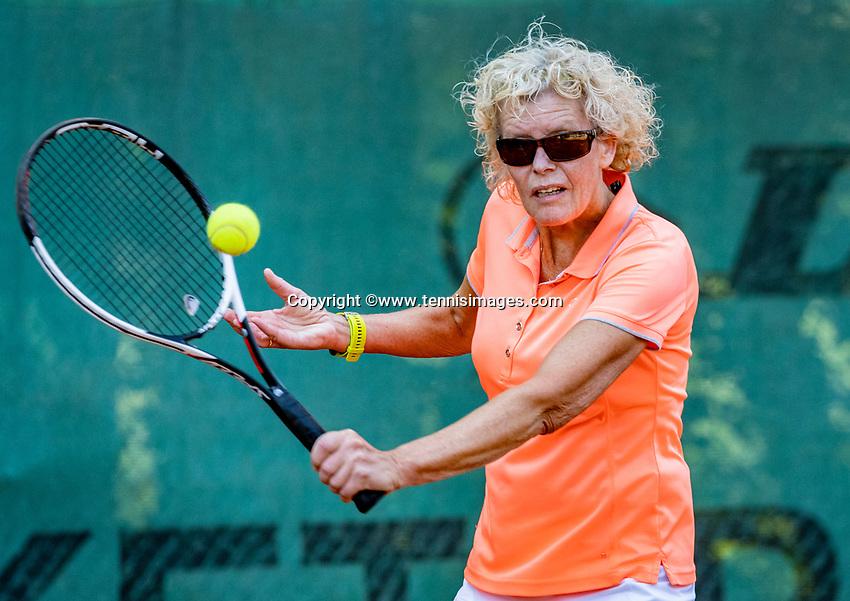 Hilversum, The Netherlands, September 2, 2018,  Tulip Tennis Center, NKS, National Championships Seniors, Women's 60+ final: Karien Theewes (NED) <br /> Photo: Tennisimages/Henk Koster