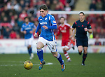 Aberdeen v St Johnstone…27.02.16   SPFL   Pittodrie, Aberdeen<br />Craig Thomson breaks forward<br />Picture by Graeme Hart.<br />Copyright Perthshire Picture Agency<br />Tel: 01738 623350  Mobile: 07990 594431