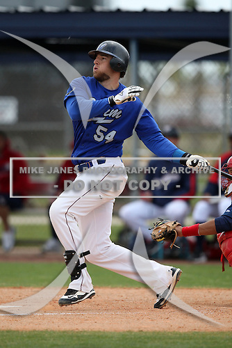March 22, 2010:  Matt Hagen (54) of the Long Island Storm during a game at the Carl Barger Training Complex in Melbourne, FL.  Photo By Mike Janes/Four Seam Images
