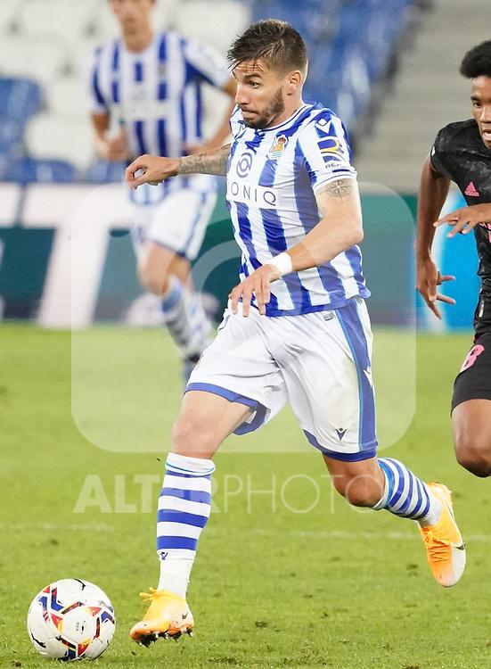 Real Sociedad's Cristian Portu during La Liga match. September 20, 2020. (ALTERPHOTOS/Acero)