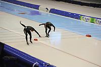 SCHAATSEN: HEERENVEEN: 27-12-2013, IJsstadion Thialf, KNSB Kwalificatie Toernooi (KKT), 500m, Ronald Mulder, Jan Smeekens, ©foto Martin de Jong
