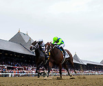 August 28, 2021: Jackie's Warrior #2, ridden by jockey Joel Rosario prevails over Life Is Good #6 ridden by jockey Mike Smith to win the Grade 1 H. Allen Jerkens Memorial Stakes at Saratoga Race Course in Saratoga Springs, N.Y. on August 28th, 2021. Scott Serio/Eclipse Sportswire/CSM