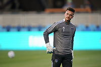 SAN JOSE, CA - MAY 1: JT Marcinkowski #1 of the San Jose Earthquakes before a game between D.C. United and San Jose Earthquakes at PayPal Park on May 1, 2021 in San Jose, California.