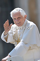 Pope Benedict XVI during his weekly general audience in St. Peter square at the Vatican, Wednesday. 25 May, 2011
