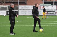 SINT ELOOIS WINKEL SPORT :<br /> Hulptrainer Jeffry Verhoeven (R) met headcoach Danny Lavens (L)<br /> <br /> Foto VDB / Bart Vandenbroucke