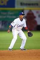Chattanooga Lookouts shortstop Jorge Polanco (11) during a game against the Jacksonville Suns on April 30, 2015 at AT&T Field in Chattanooga, Tennessee.  Jacksonville defeated Chattanooga 6-4.  (Mike Janes/Four Seam Images)