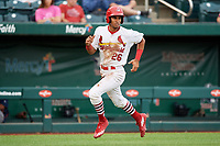 Springfield Cardinals center fielder Oscar Mercado (26) runs home during a game against the Corpus Christi Hooks on May 31, 2017 at Hammons Field in Springfield, Missouri.  Springfield defeated Corpus Christi 5-4.  (Mike Janes/Four Seam Images)