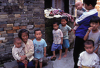 Young boys outnumber girls in a village in Guangdong Province, South China. An average gender inbalance of 118 males to 100 females caused by the strict One Child Policy and the preference for boys means that there is a shortage of women in China.